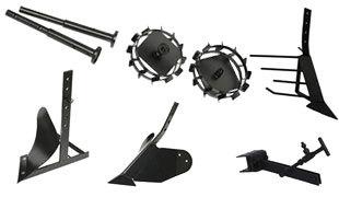 Комплект насадок для FJ500 (грунтозацепы, удлинитель, плуг, картофелевыкапыватель, окучник, сцепка) в Апшеронске